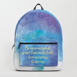 Inspiring Bible Verse, Be Courageous Backpack