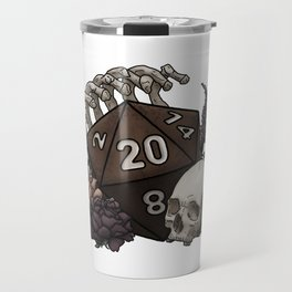 Skeleton D20 Tabletop RPG Gaming Dice Travel Mug