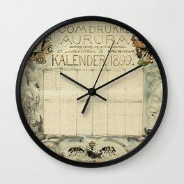 Ontwerp voor de kalender 1899 voor de Stoomdrukkerij Aurora (1874-1899) print in high resolution by Wall Clock