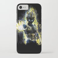 dbz iPhone & iPod Cases featuring The Prince of all fighters by Barrett Biggers