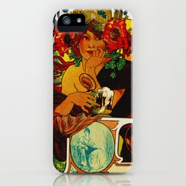 Vintage Art Nouveau Beer Ad iPhone Case