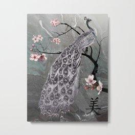 Spade's Peacock Metal Print