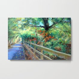 The Bicycle Path Metal Print
