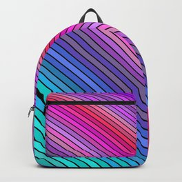 Cold rainbow stripes Backpack
