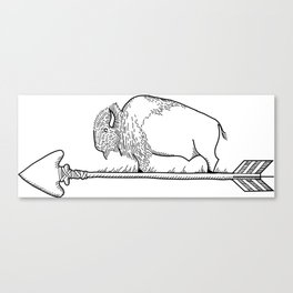 Bison on an arrow Canvas Print