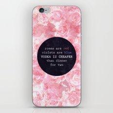 VODKA IS CHEAPER iPhone & iPod Skin