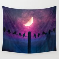 agnes Wall Tapestries featuring Symphony (colour option) by Viviana Gonzalez