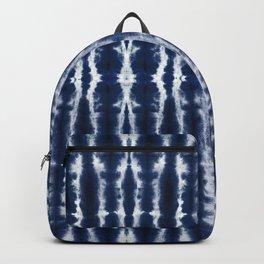 Palm Tiki Shibori Indigo Backpack