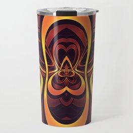 Golden Tribal Logo for a Space Monkey Named Winston Travel Mug