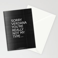 Sorry Verdana you're really not my type Stationery Cards