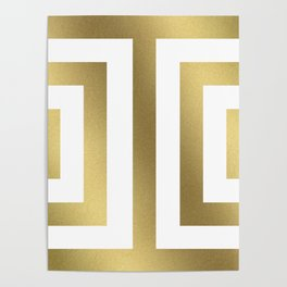 Gold Greek Stripes Poster