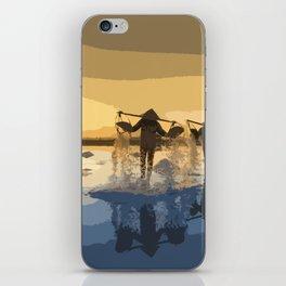 Salt Harvest in Abstract Art iPhone Skin