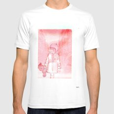 Shelsea and his teddy bear Valentin  MEDIUM White Mens Fitted Tee