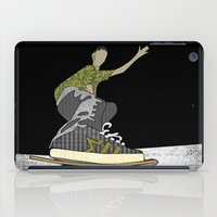skateboard iPad Cases featuring Skateboard 14  by Aquamarine Studio
