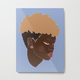 Freckled Princess Metal Print