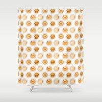 bread Shower Curtains featuring Sweet Bread by Woof! Productions