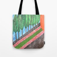 religious Tote Bags featuring Ten Religious Abstract Art By Saribelle Rodriguez by Saribelle Inspirational Art