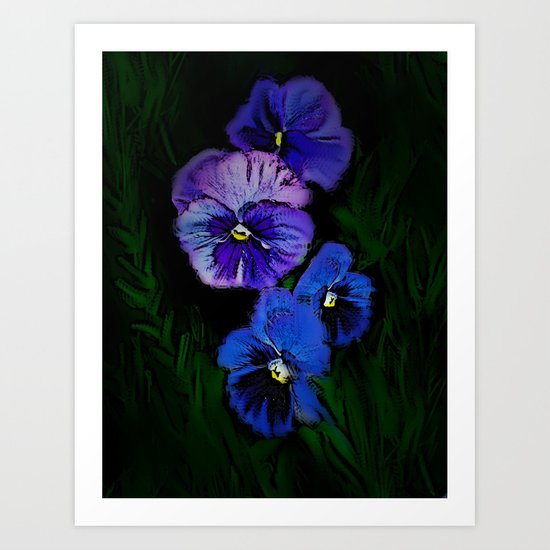 Plum Purple Pansy  Art Print