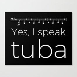 Tuba oompas (black) Canvas Print