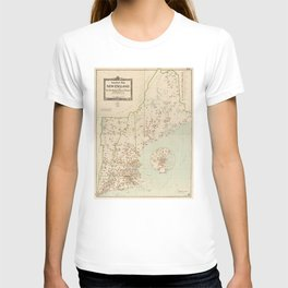 Vintage New England Industries Map (1919) T-shirt