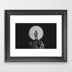With The Moon Framed Art Print