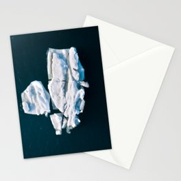 Lone, minimalist Iceberg from above - Landscape Photography Stationery Cards