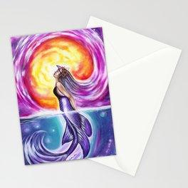 Galactic Mermaid Stationery Cards