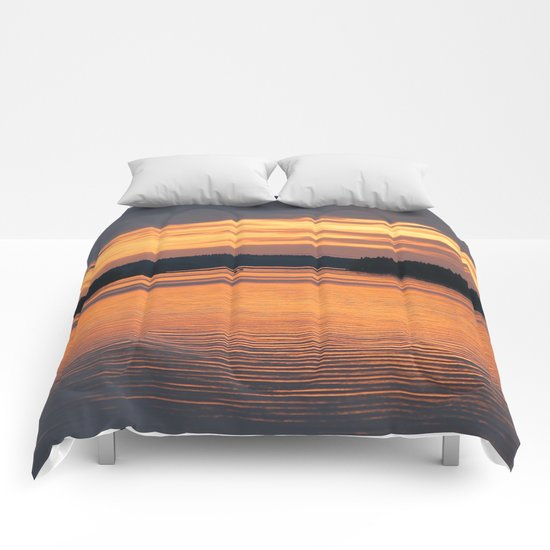 Sunset Reflection Comforters