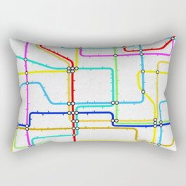 London Tube Underground Rectangular Pillow