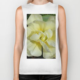 Double Cream Tulip by Teresa Thompson Biker Tank