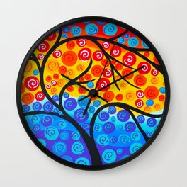 Tree of Life Rainbow Wall Clock