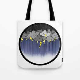 Storm on a teacup Tote Bag