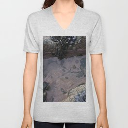Pink Ocean Rock Pool with Mussels Unisex V-Neck