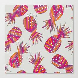 Geometric Pineapples Summer Print Canvas Print