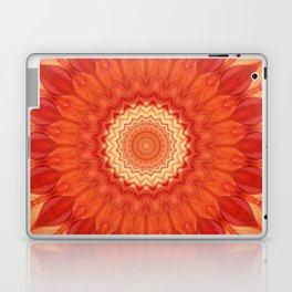 Mandala orange red Laptop & iPad Skin