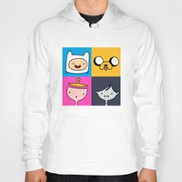 finn and jake Hoodies featuring Finn & Jake by fungopolly