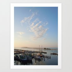 Sunrise Over Biloxi Art Print
