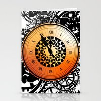 persona 4 Stationery Cards featuring Persona Q Clock by Laharl