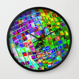 Psychedelic Planet Disco Ball Wall Clock