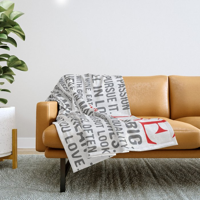 All about life Throw Blanket