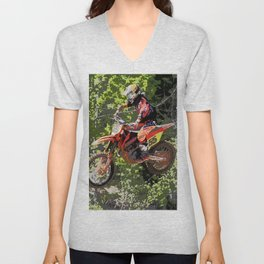 High Flying Racer - Motocross Champ Unisex V-Neck