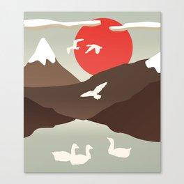 Swan Migration Canvas Print