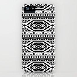 Aztec Geometric Print - Black iPhone Case
