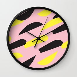 pattern no.6 / more than happy Wall Clock