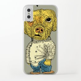 The hip dog Clear iPhone Case