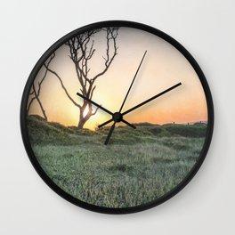 Barrier Island Sunrise II Wall Clock