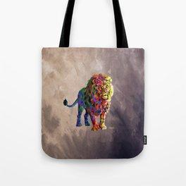 Cubed Lion King Tote Bag