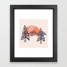 First Snow... Framed Art Print