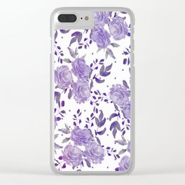 Bouquet of Purple Roses Clear iPhone Case