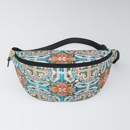 Seamless Floral Pattern Ornamental Tile Design : 1 Fanny Pack